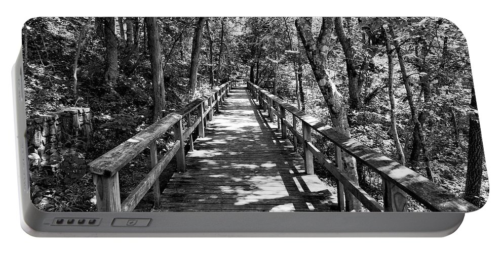 Wood Board Walk Portable Battery Charger featuring the photograph Boardwalk B by John Myers