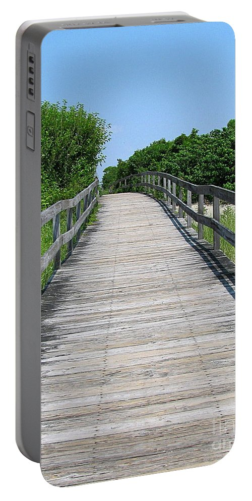 Boardwalk Portable Battery Charger featuring the photograph Boardwalk by Colleen Kammerer