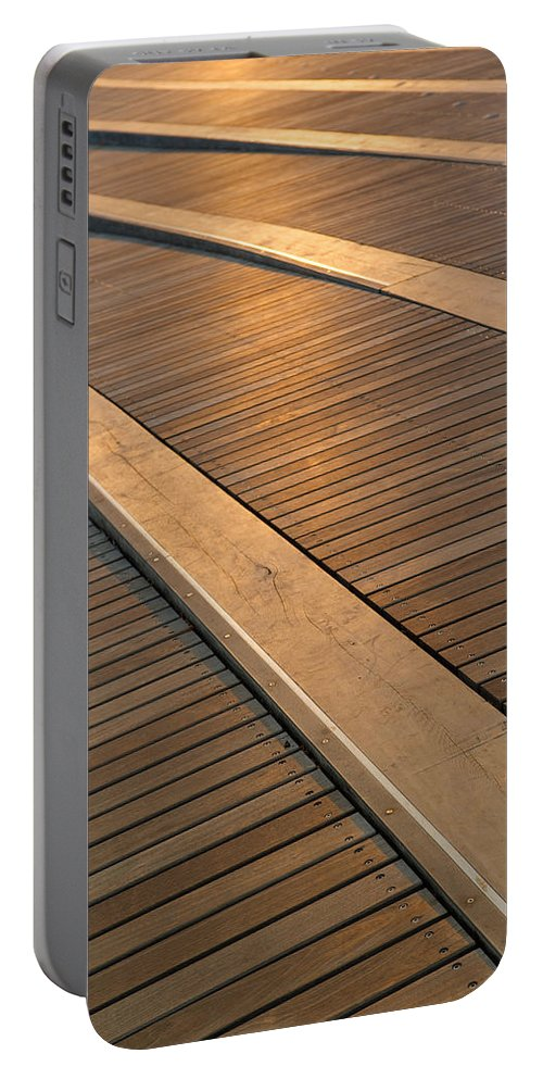Boardwalk Portable Battery Charger featuring the photograph Boardwalk by Sebastian Musial