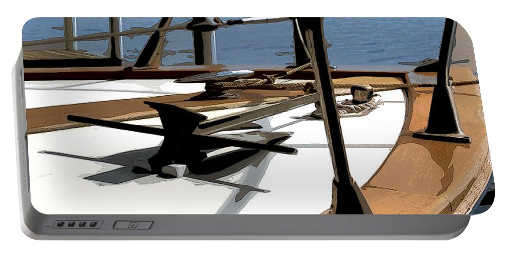 Chris Craft Portable Battery Charger featuring the photograph Boat Anchor by Susan Vineyard