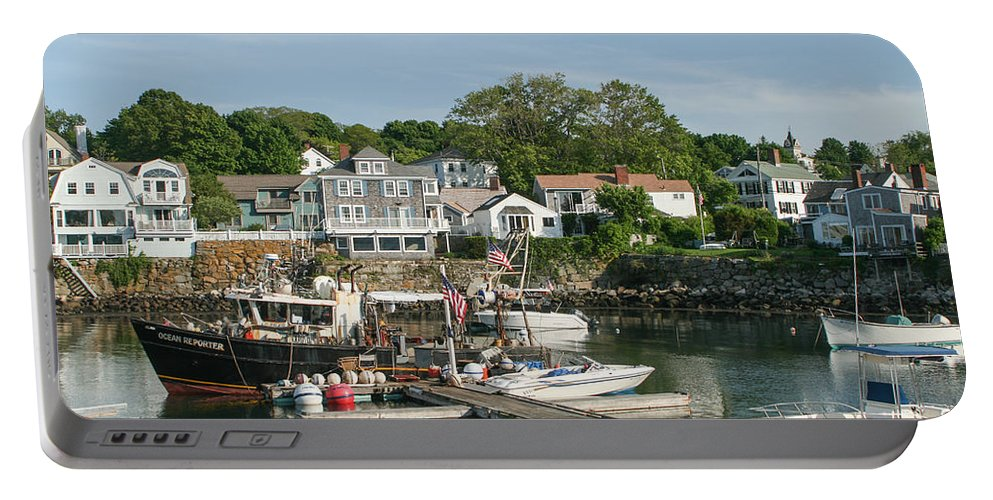 Boat Dock Portable Battery Charger featuring the photograph Boat Dock by Frank Morales Jr