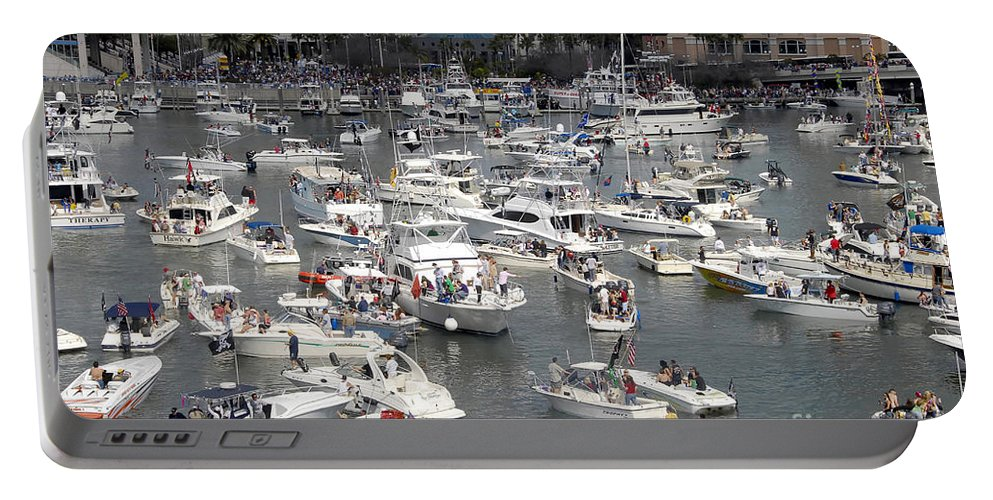 Boats Portable Battery Charger featuring the photograph Boat Party by David Lee Thompson