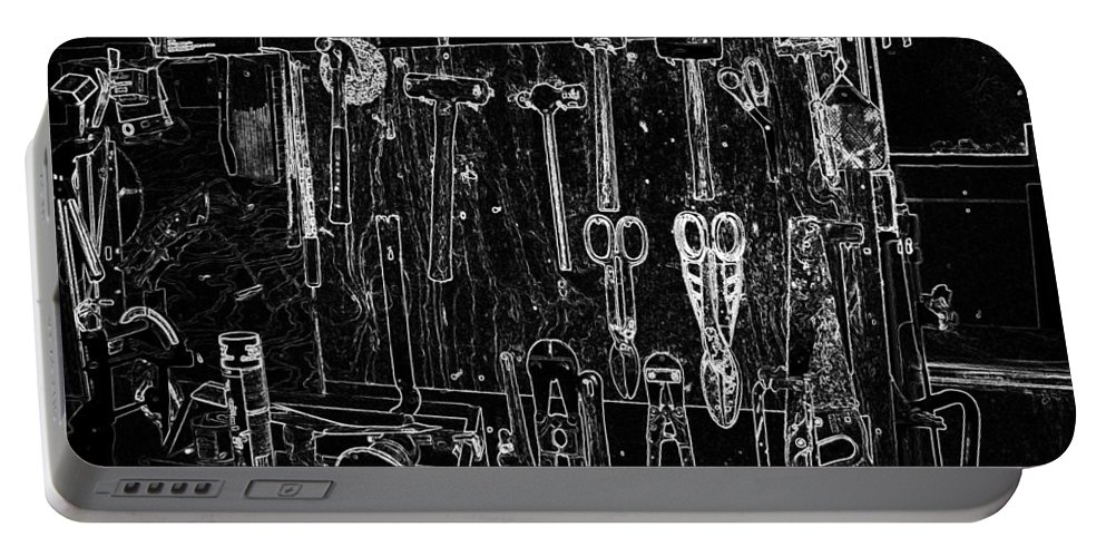 Tools Portable Battery Charger featuring the photograph Boat Shop by Susan Vineyard