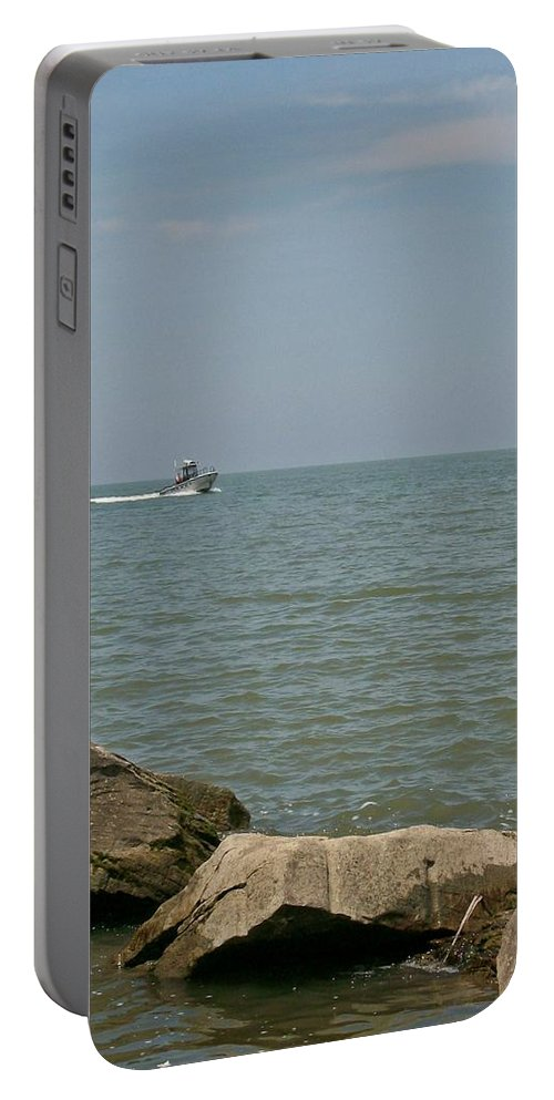 Boat Portable Battery Charger featuring the photograph Boating Fun by Sara Raber