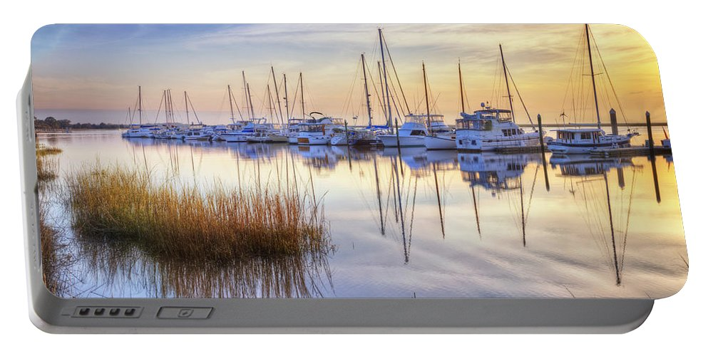 Boats Portable Battery Charger featuring the photograph Boats At Calm by Debra and Dave Vanderlaan