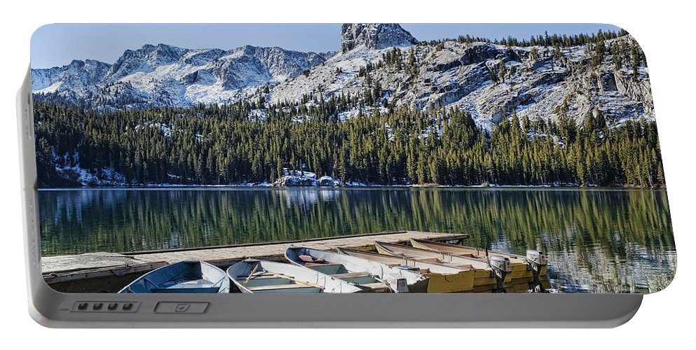 Water Portable Battery Charger featuring the photograph Boats At Dock by Kelley King
