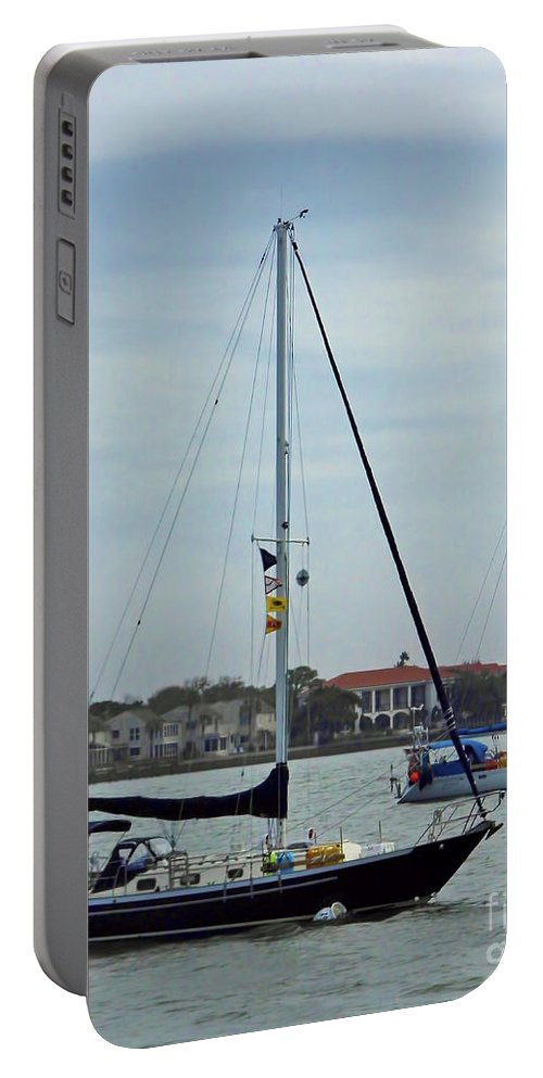 Dock Portable Battery Charger featuring the photograph Boats In The Inlet by D Hackett