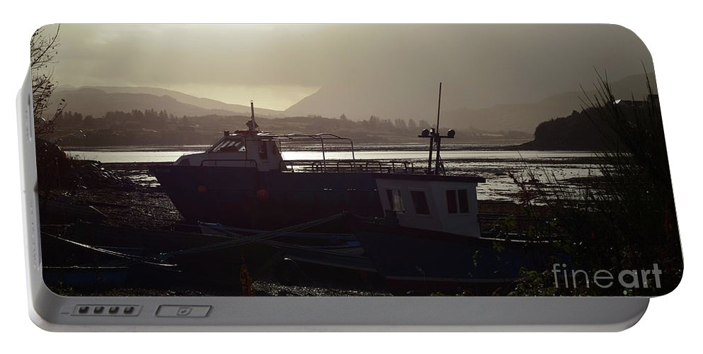 Boats Portable Battery Charger featuring the photograph Boats, Portree, Isle Of Skye by Kate Sadler