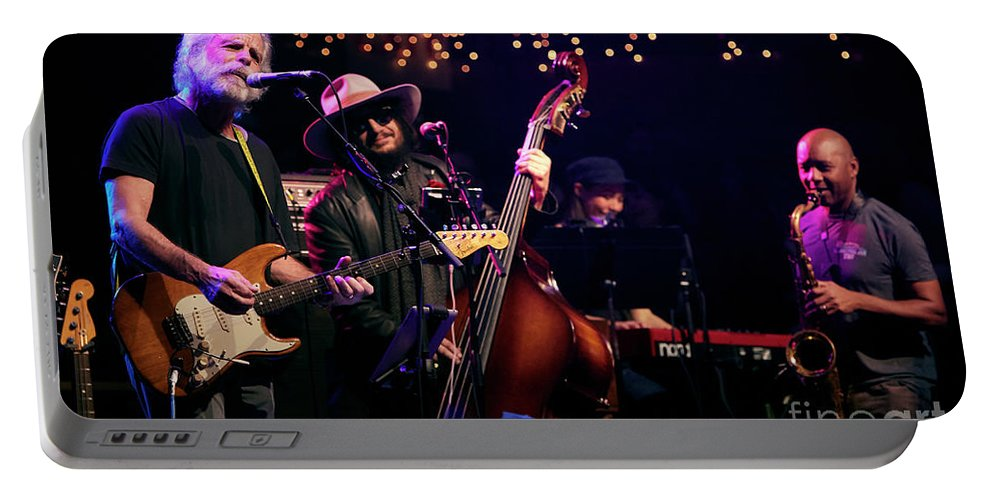 Jerry Portable Battery Charger featuring the photograph Bob Wier, Don Was, Branford Marsalis by Chuck Spang