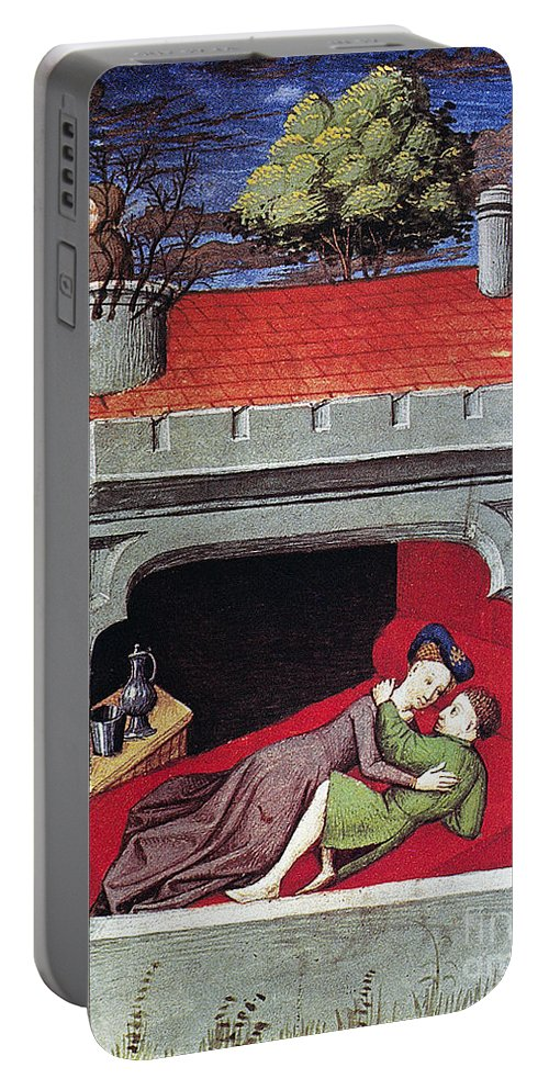 1430 Portable Battery Charger featuring the photograph Boccaccio: Lovers, C1430 by Granger