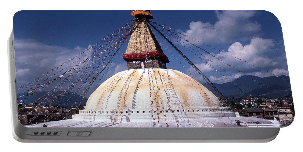 Bodhnath Stupa Portable Battery Charger featuring the photograph Bodhnath Stupa by Patrick Klauss