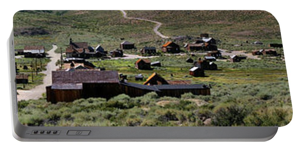 Bodie Ghost Town Panorama Portable Battery Charger featuring the photograph Bodie Ghost Town Panorama by Chris Brannen