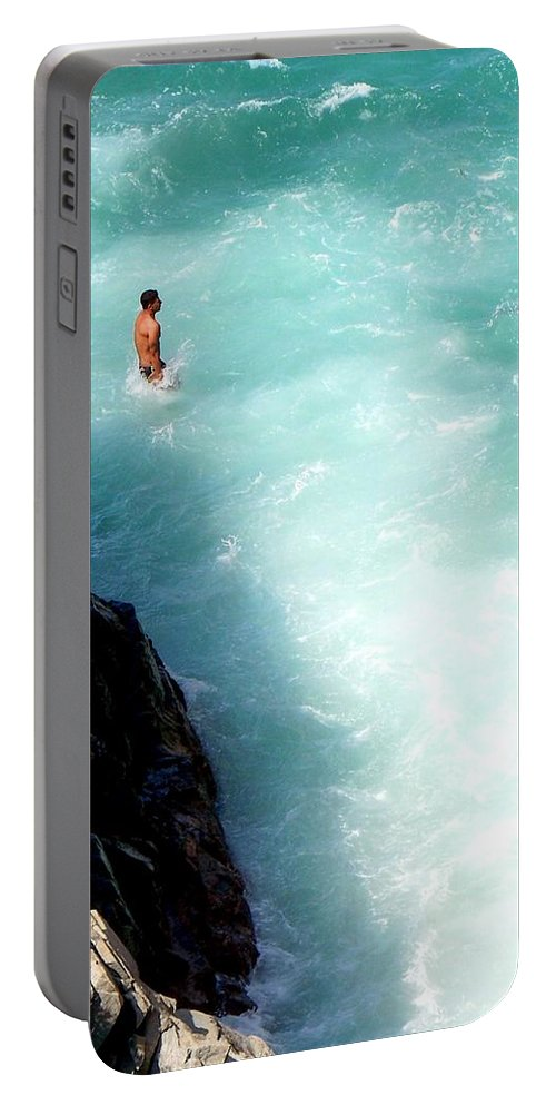 Mexico Portable Battery Charger featuring the photograph Body Plunge by Karen Wiles