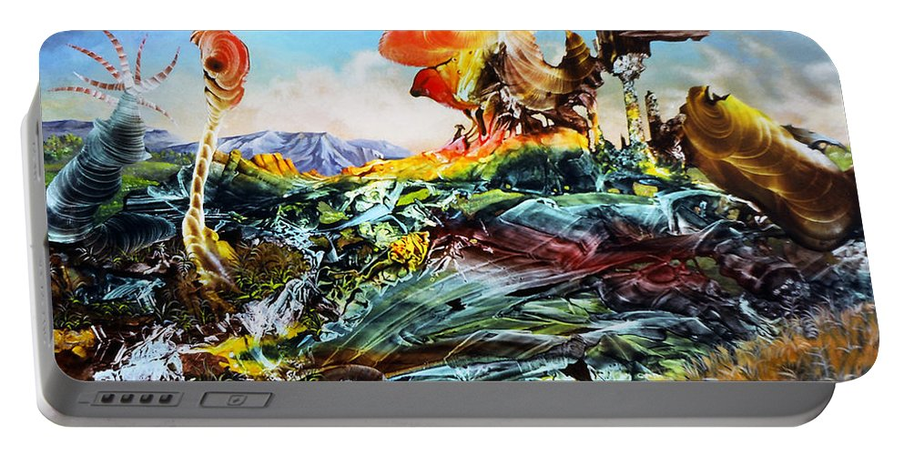 Landscape Portable Battery Charger featuring the painting Bogomil Landscape by Otto Rapp