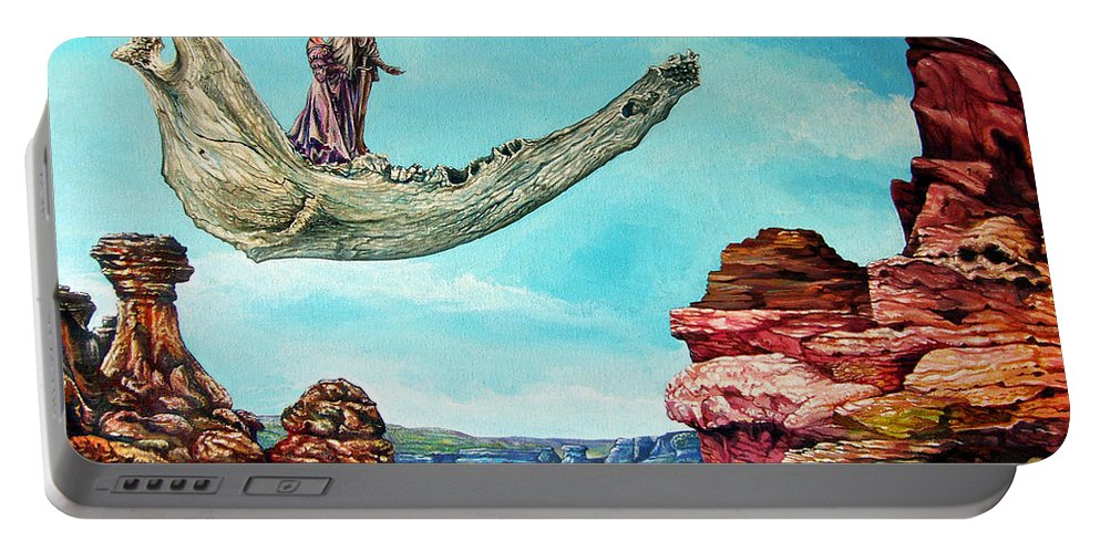 Painting Portable Battery Charger featuring the painting Bogomils Journey by Otto Rapp