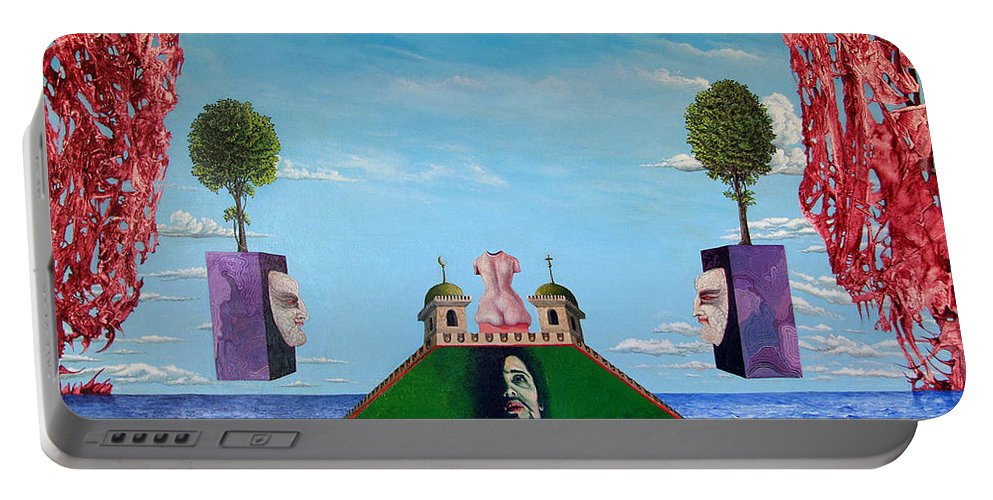Painting Portable Battery Charger featuring the painting Bogomils Monastic Retreat by Otto Rapp
