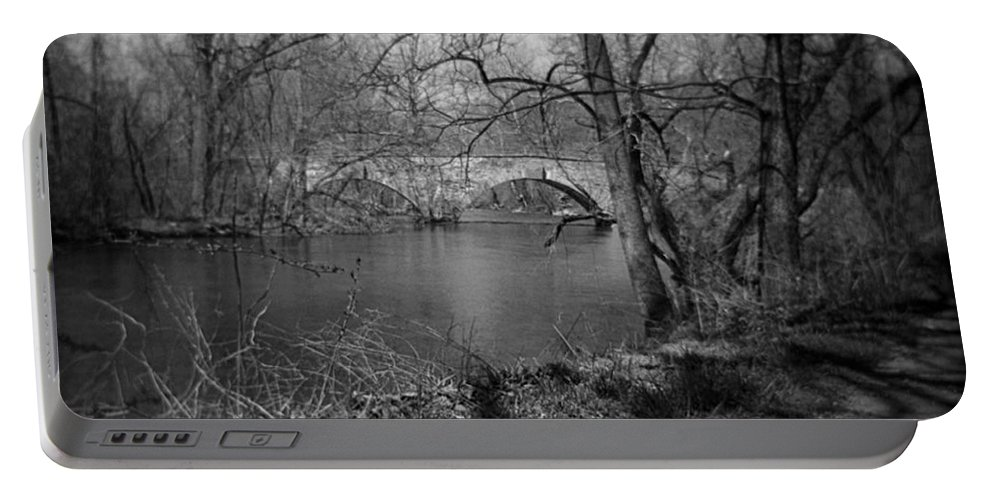 Photograph Portable Battery Charger featuring the photograph Boiling Springs Stone Bridge by Jean Macaluso