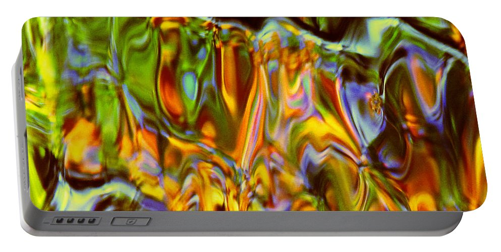 Abstract Portable Battery Charger featuring the photograph Boisterous Bellows Of Colors by Sybil Staples