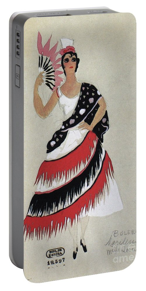 1941 Portable Battery Charger featuring the photograph Bolero Costume by Granger