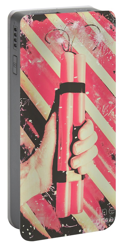 Weapon Portable Battery Charger featuring the photograph Bomber Man Hand by Jorgo Photography - Wall Art Gallery