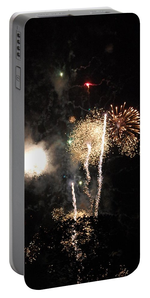 Firwworks Portable Battery Charger featuring the photograph Bombs1 by David Lane