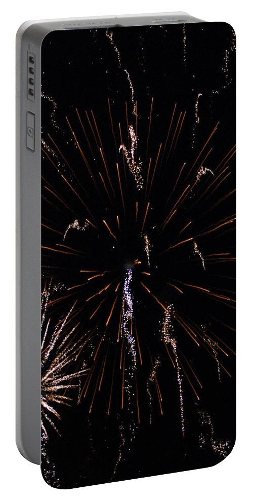 Firwworks Portable Battery Charger featuring the photograph Bombs2 by David Lane
