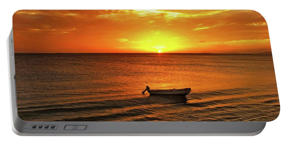 Bonaire Portable Battery Charger featuring the photograph Bonaire Sunset 4 by Stephen Anderson