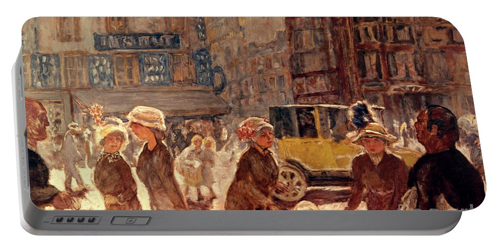 1912 Portable Battery Charger featuring the photograph Bonnard: Place Clichy by Granger