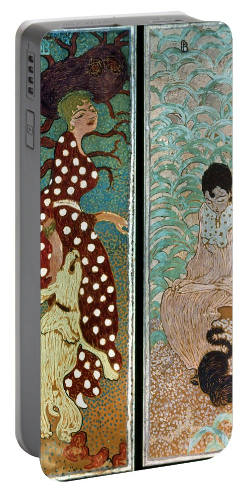 1891 Portable Battery Charger featuring the photograph Bonnard: Women, 1891 by Granger