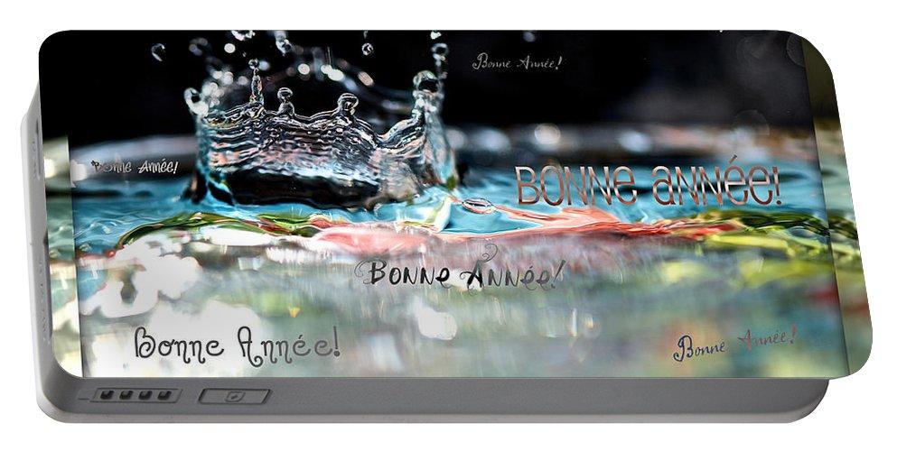 Carte De Bonne Annee Portable Battery Charger featuring the photograph Bonne Annee Card by Lisa Knechtel