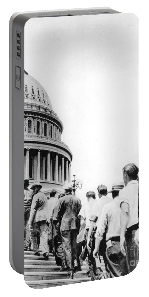 1932 Portable Battery Charger featuring the photograph Bonus Army Marchers, 1932 by Granger