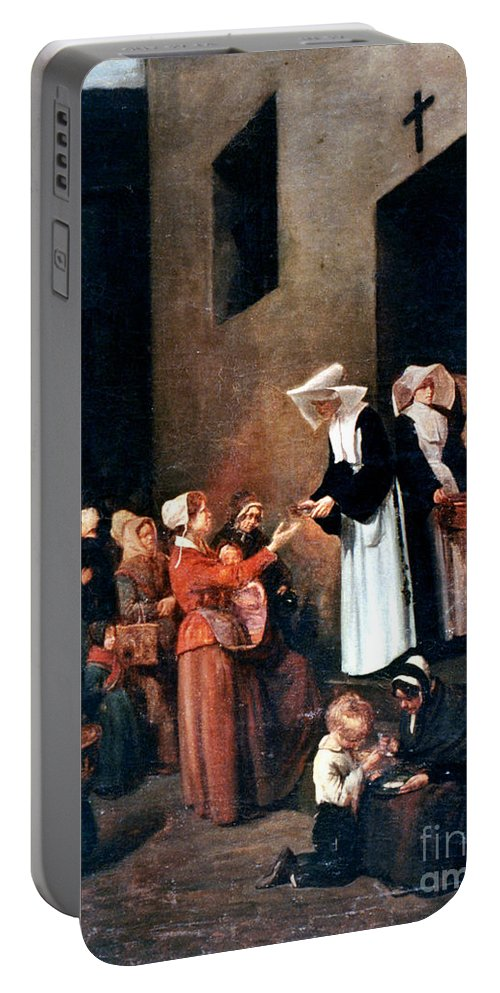 19th Century Portable Battery Charger featuring the photograph Bonvin: Charity, 1851 by Granger