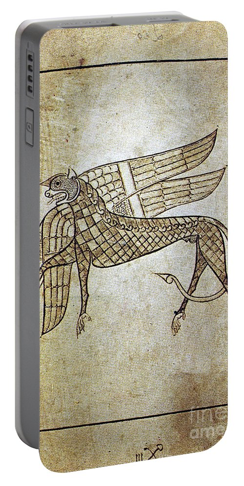 680 Portable Battery Charger featuring the photograph Book Of Durrow, C680 A.d by Granger