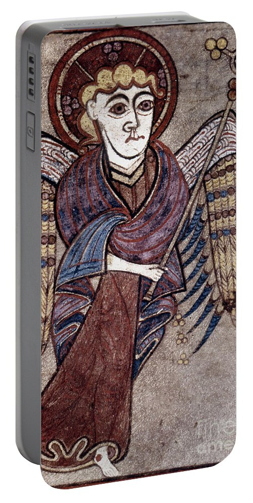 800 Portable Battery Charger featuring the painting Book Of Kells: St. Matthew by Granger