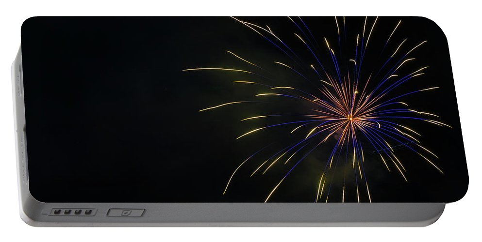 Fireworks Portable Battery Charger featuring the photograph Boom 4 by Andrew Zuber