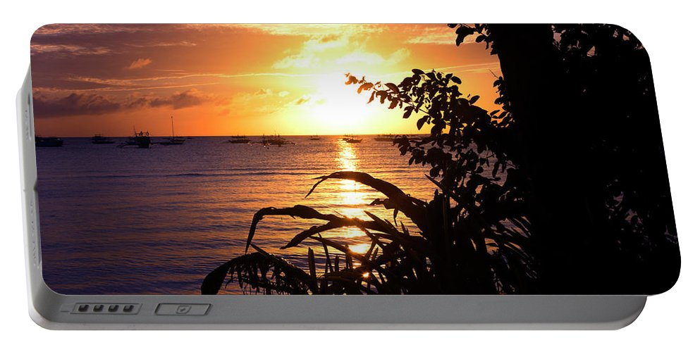 Portable Battery Charger featuring the digital art Boracay,philippians 2 by Mark Ashkenazi