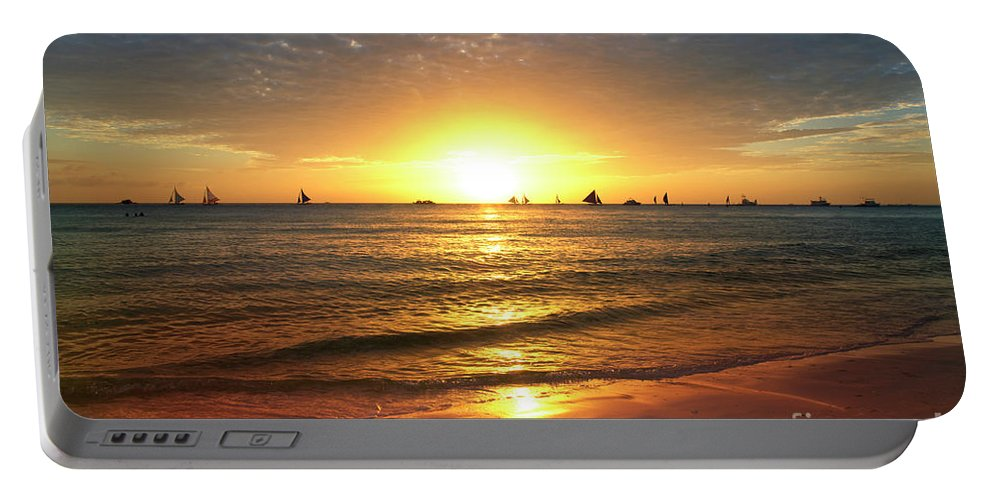 Enjoy Portable Battery Charger featuring the digital art boracay,Philippians 4 by Mark Ashkenazi