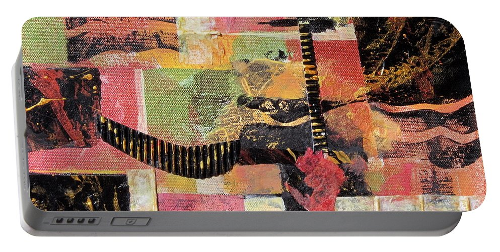 Mixed Media Portable Battery Charger featuring the painting Bordeaux by Deborah Ronglien