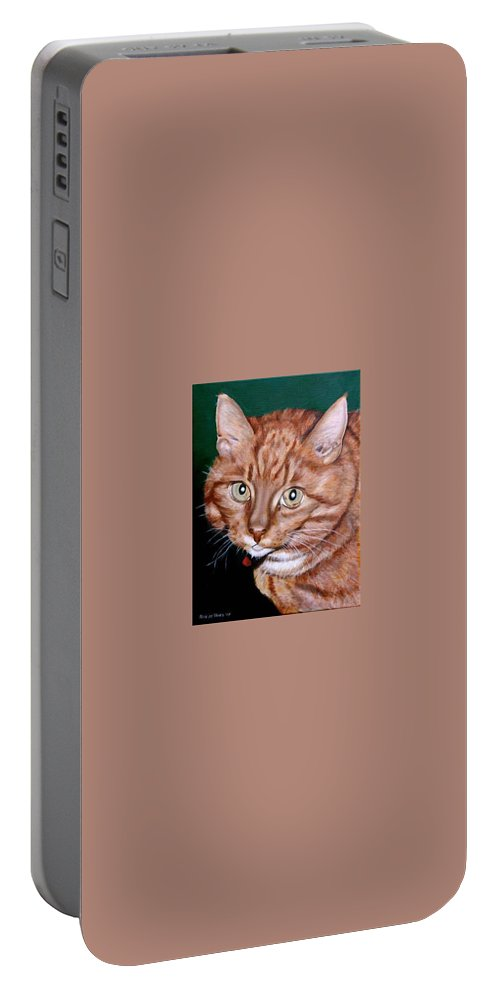Pets Portable Battery Charger featuring the painting Boris by Rob De Vries