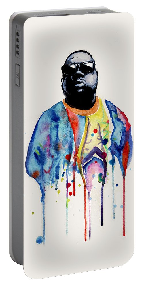 Notorious Portable Battery Charger featuring the drawing Born Sinner by Ludwig Van Bacon