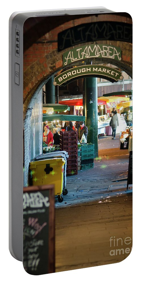 England Portable Battery Charger featuring the photograph Borough Market by Cheryl Crumm