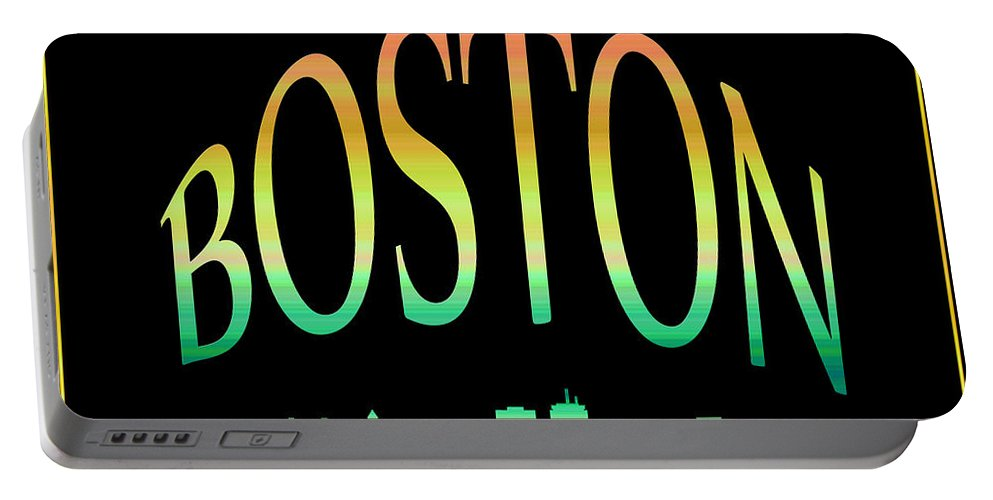 Boston Skyline Portable Battery Charger featuring the photograph Boston Skyline 10 by Andrew Fare