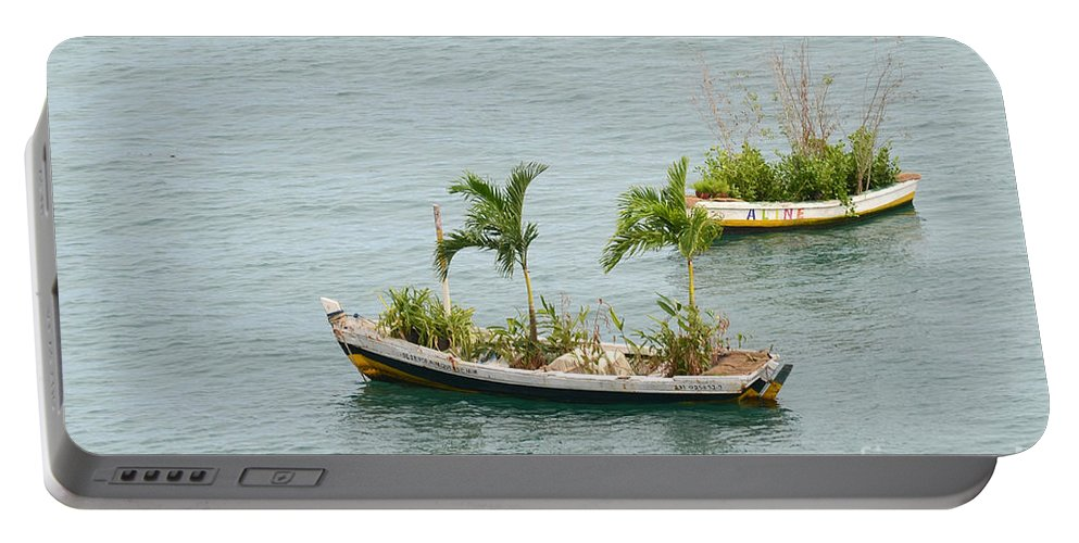 Salvador Portable Battery Charger featuring the photograph Botanic Garden On The Water by Ralf Broskvar