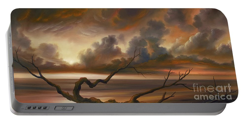 Ocean Portable Battery Charger featuring the painting Botany Bay by James Christopher Hill