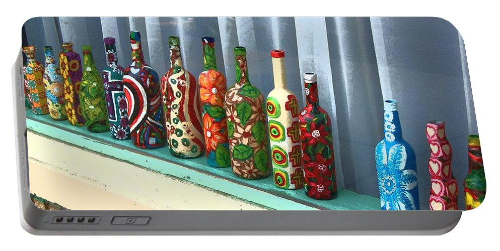 Bottles Portable Battery Charger featuring the photograph Bottled Up by Debbi Granruth