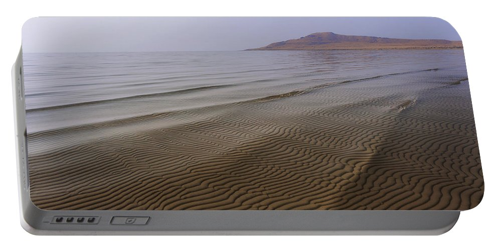 Bottom Ripples Portable Battery Charger featuring the photograph Bottom Ripples by Chad Dutson