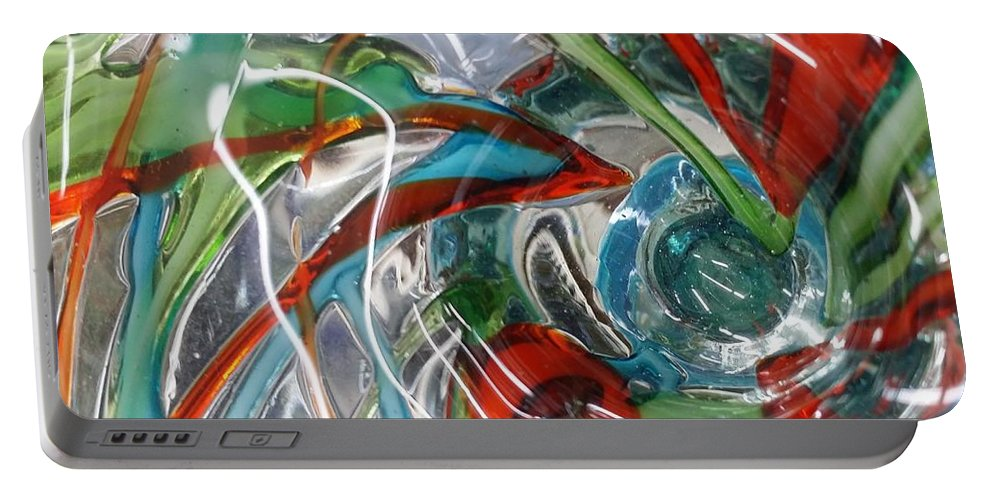 Glass Portable Battery Charger featuring the digital art Bottoms Up 5 by Scott S Baker