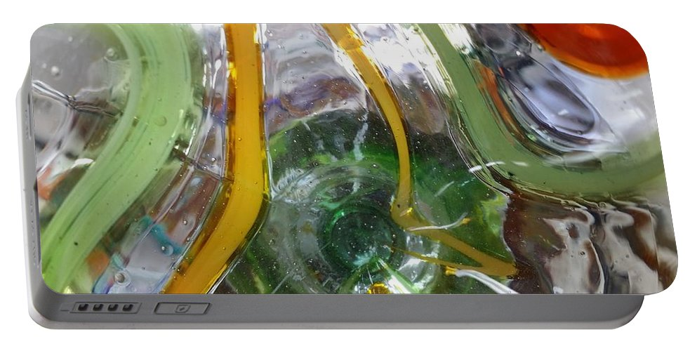 Abstract Art Portable Battery Charger featuring the digital art Bottoms Up Series #10 by Scott S Baker