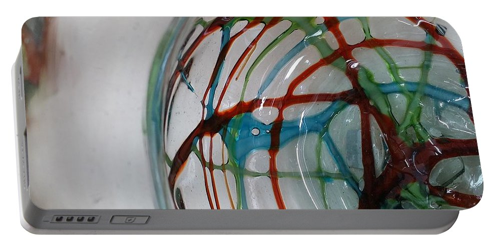 Abstract Art Portable Battery Charger featuring the digital art Bottoms Up Series #12 by Scott S Baker