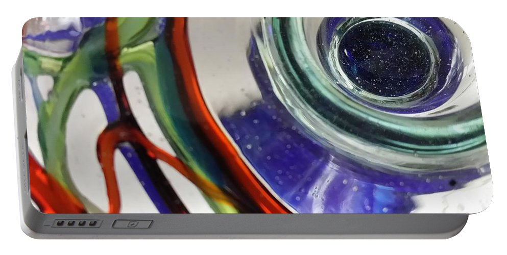 Abstract Art Portable Battery Charger featuring the digital art Bottoms Up Series #13 by Scott S Baker